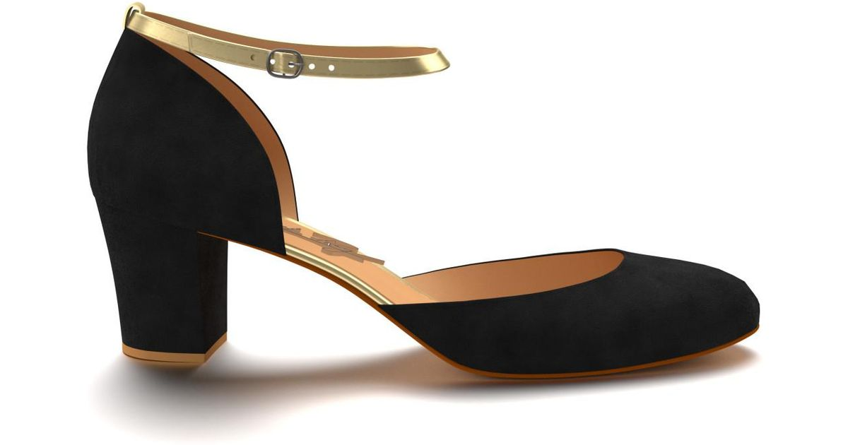 216ccb8736f Shoes Of Prey Black Double D orsay Pump With Strap in Black - Lyst