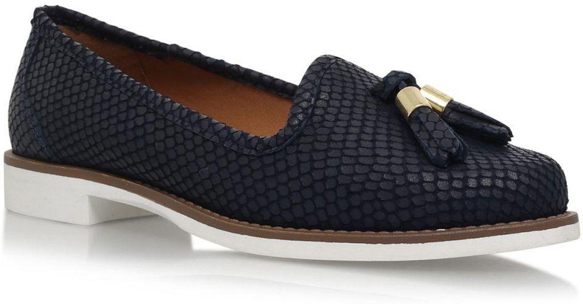 97422b38554 Carvela Kurt Geiger Match Navy Flat Loafer Shoes in Blue - Lyst