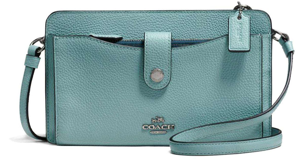 568c7e3b29 greece coach messenger with pop up pouch in colorblock leather lyst 3058f  643e6