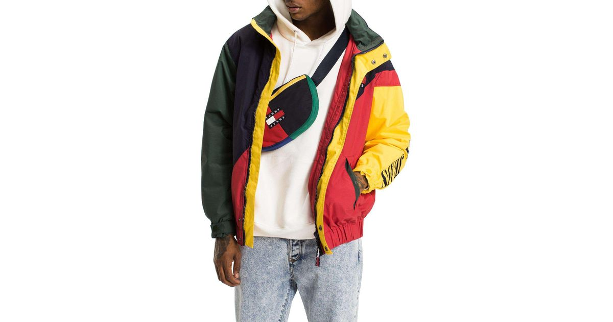 d1c36774 Tommy Hilfiger Tommy Jeans 90s Colorblock Sailing Jacket for Men - Lyst