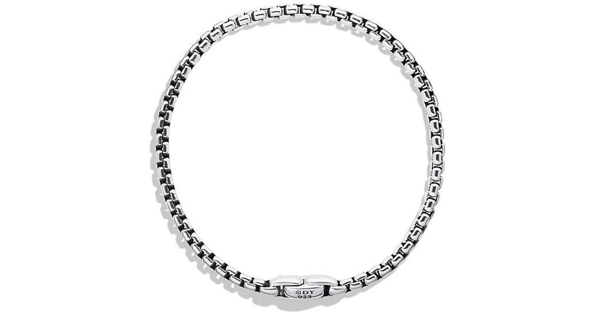 David Yurman Box Chain medium 4mm necklace - Metallic