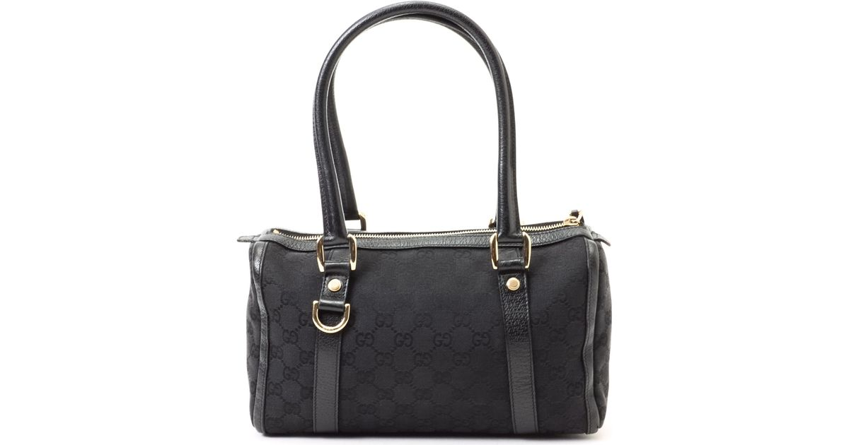 Lyst - Gucci Black Boston Bag in Black e55495f5ed5f5