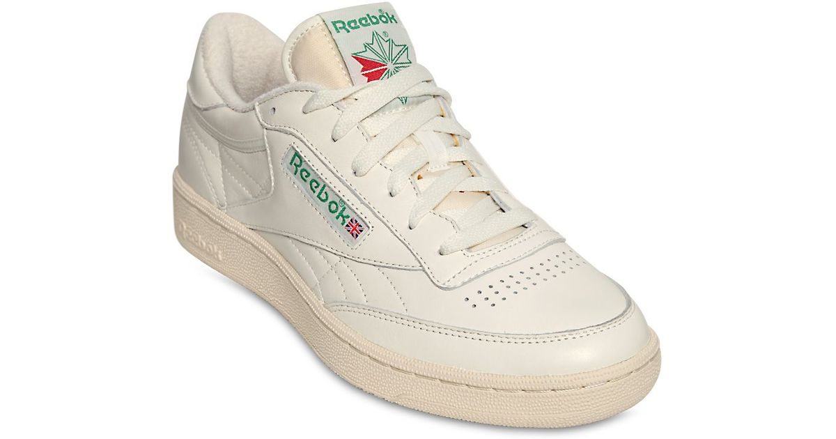 pretty nice 8e63e 8a99d Reebok Club C 85 Vintage Leather Low-Top Sneakers in White for Men - Lyst