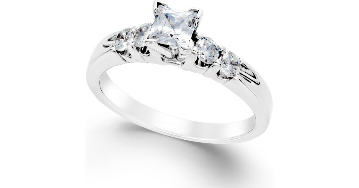 Macy s Diamond Engagement Ring 1 Ct T w In 14k White Gold in White