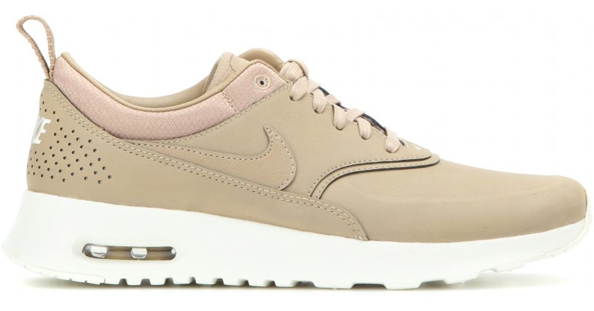nike air max thea premium leather sneakers in beige lyst. Black Bedroom Furniture Sets. Home Design Ideas