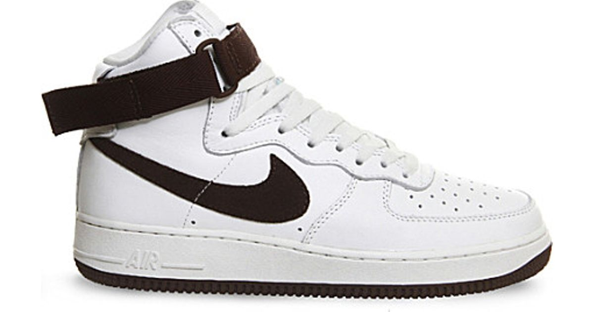 the best attitude 59567 b2ce0 Nike Air Force 1 High-top Leather Trainers in White for Men - Lyst