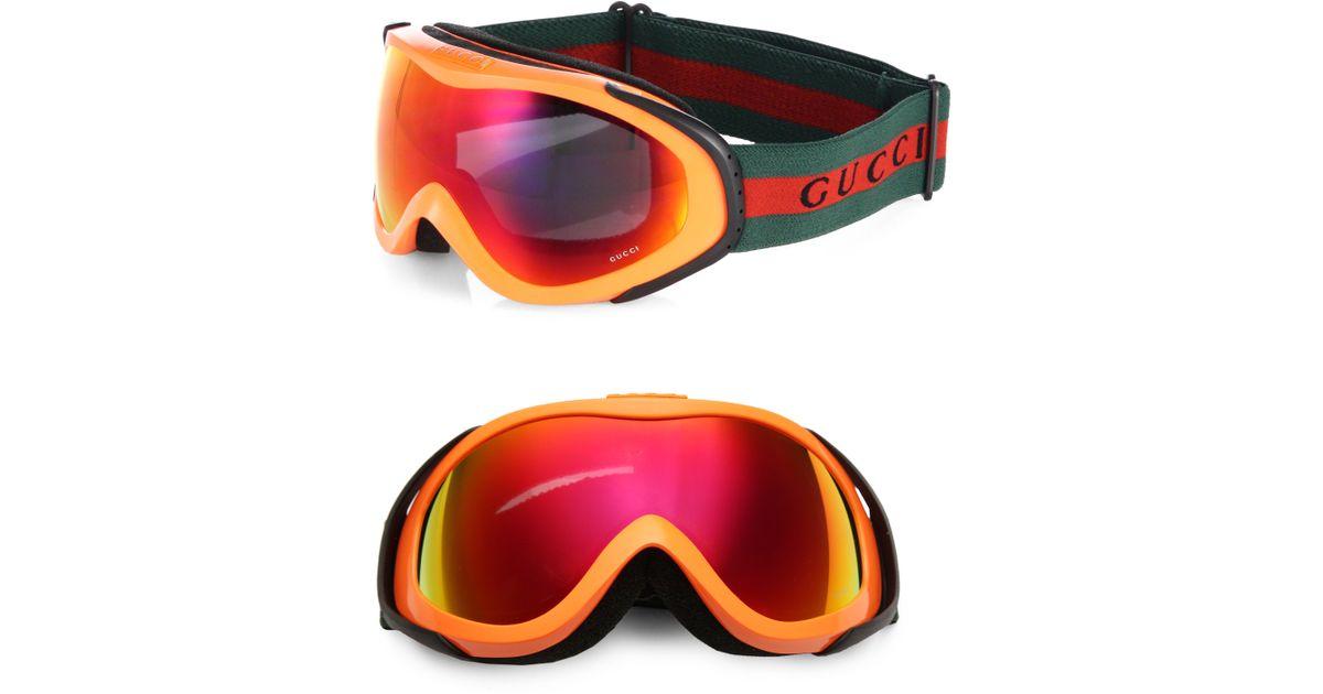 32d9b4b7f5a9 Lyst - Gucci Ski Goggles in Orange for Men