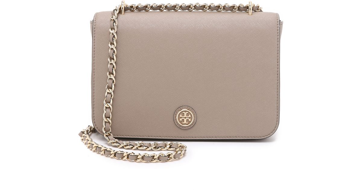 9cb4c56cb4fd ... norway tory burch robinson adjustable shoulder bag french gray in gray  lyst b3633 a4c2b