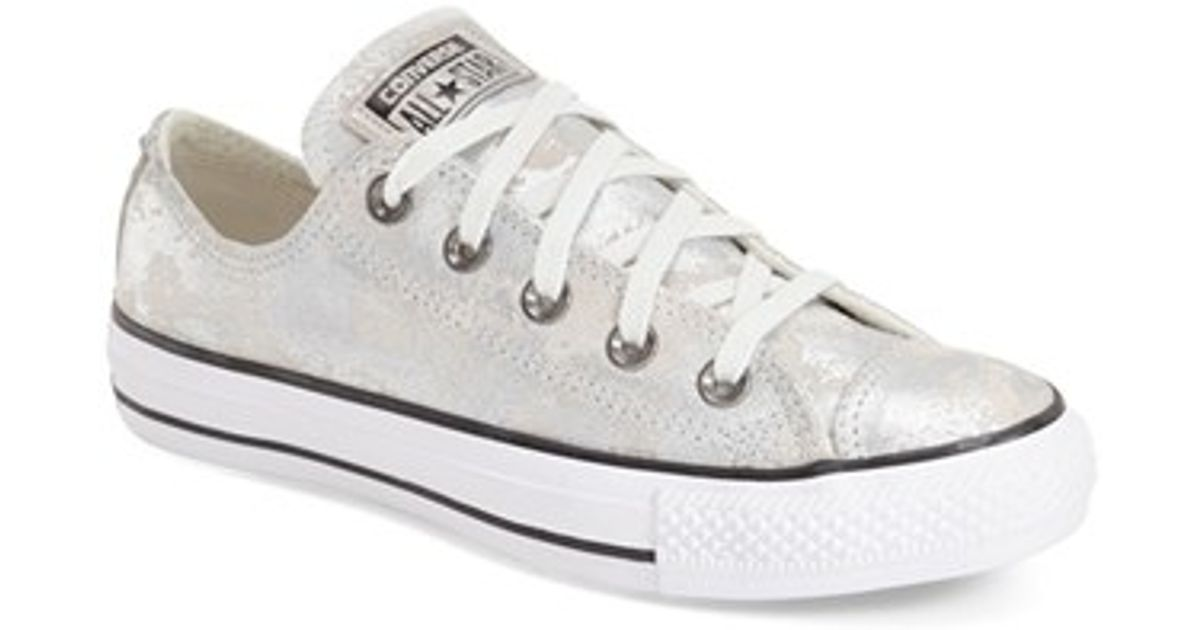 19ee896f854f72 Lyst - Converse Chuck Taylor All Star  pyramid  Leather Sneaker in Metallic