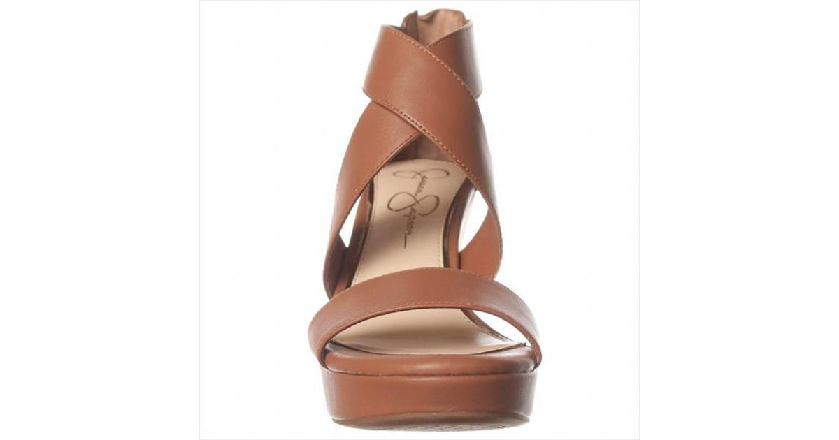 Wedge Simpson Brown Jessica Lyst Jinxxi Sandal 5AL4Rj3
