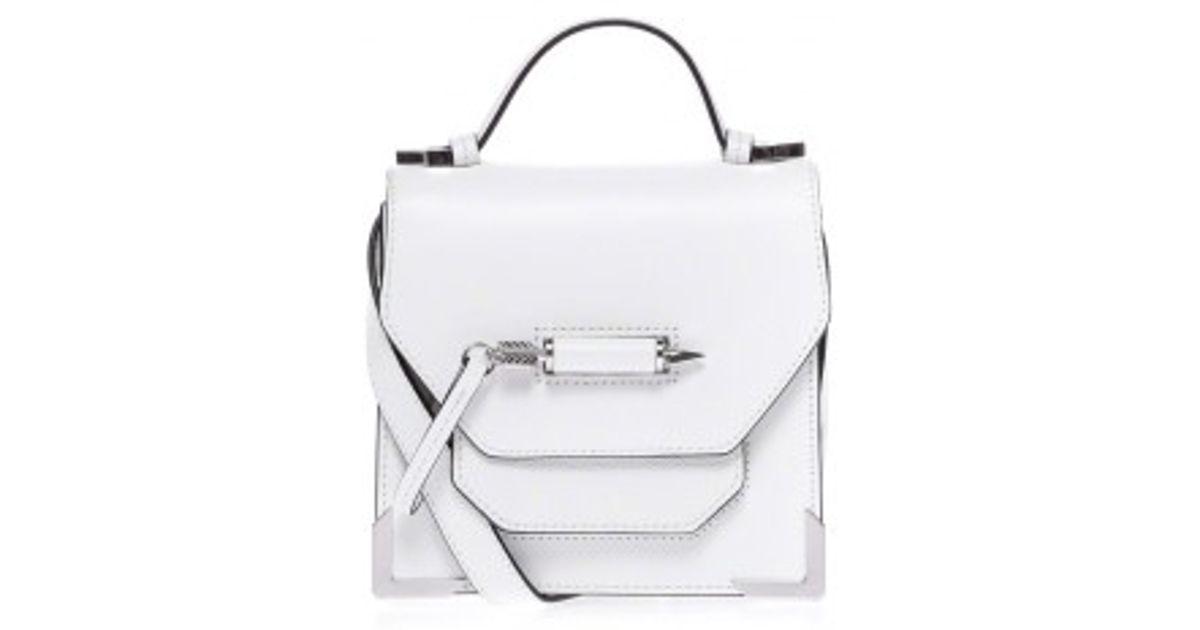 001a6f89bb ... usa mackage rubie s5 white leather mini crossbody bag in white lyst  99e34 d6df2