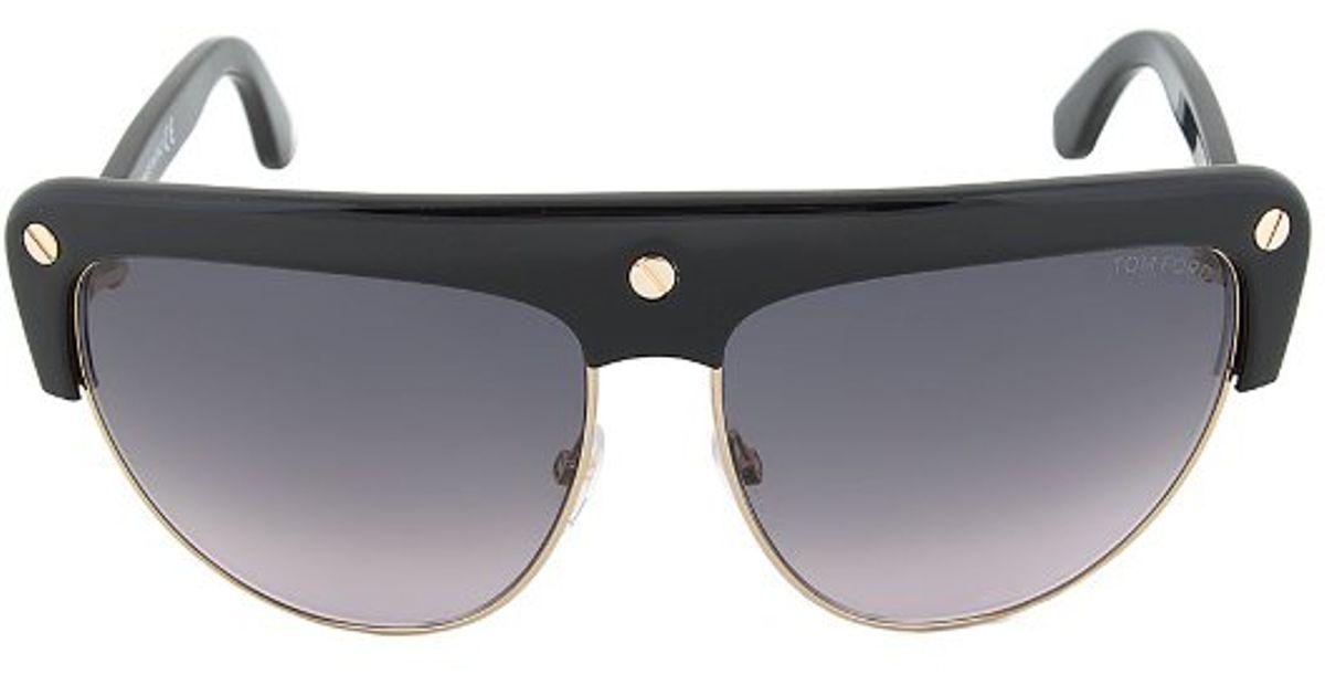 Tom ford Ft0318 01b Liane Shield Sunglasses - Black And ...