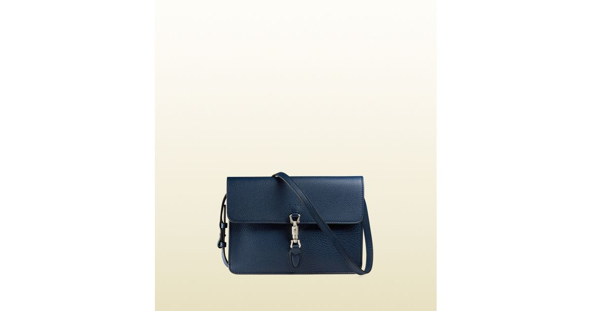 1d09ed7d9b Lyst - Gucci Jackie Soft Leather Convertible Wallet in Blue