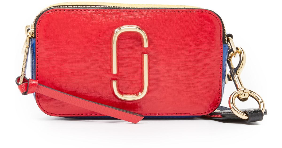 21621497a9 Marc Jacobs Snapshot Colorblock Camera Bag in Yellow - Lyst