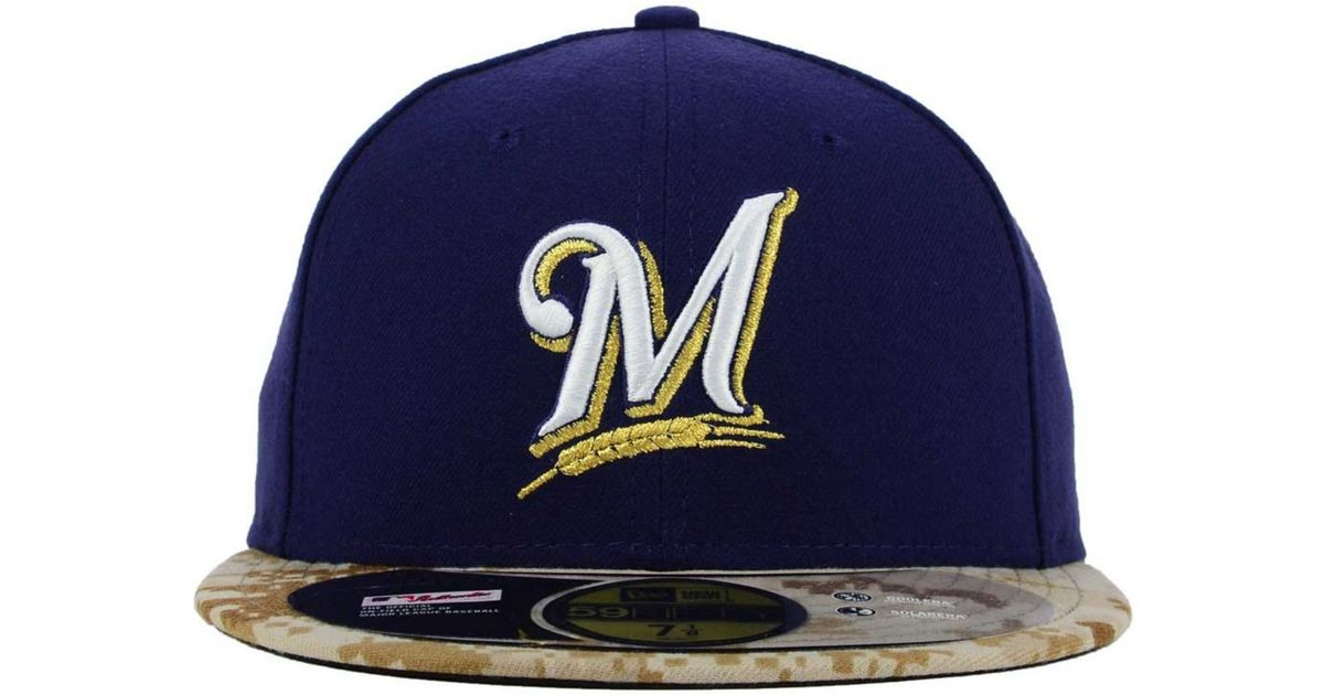 60f504e806214 Lyst - Ktz Milwaukee Brewers Memorial Day Stars And Stripes 59fifty Cap in  Blue for Men