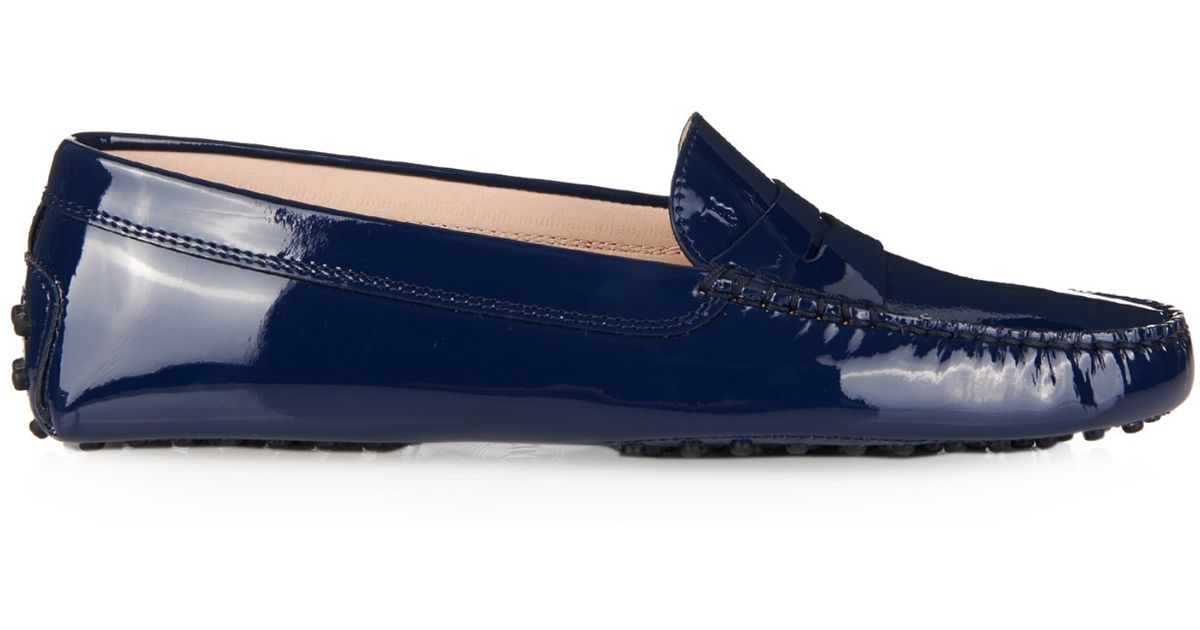 8f625d44281 Lyst - Tod s Gommino Patent-Leather Loafers in Blue
