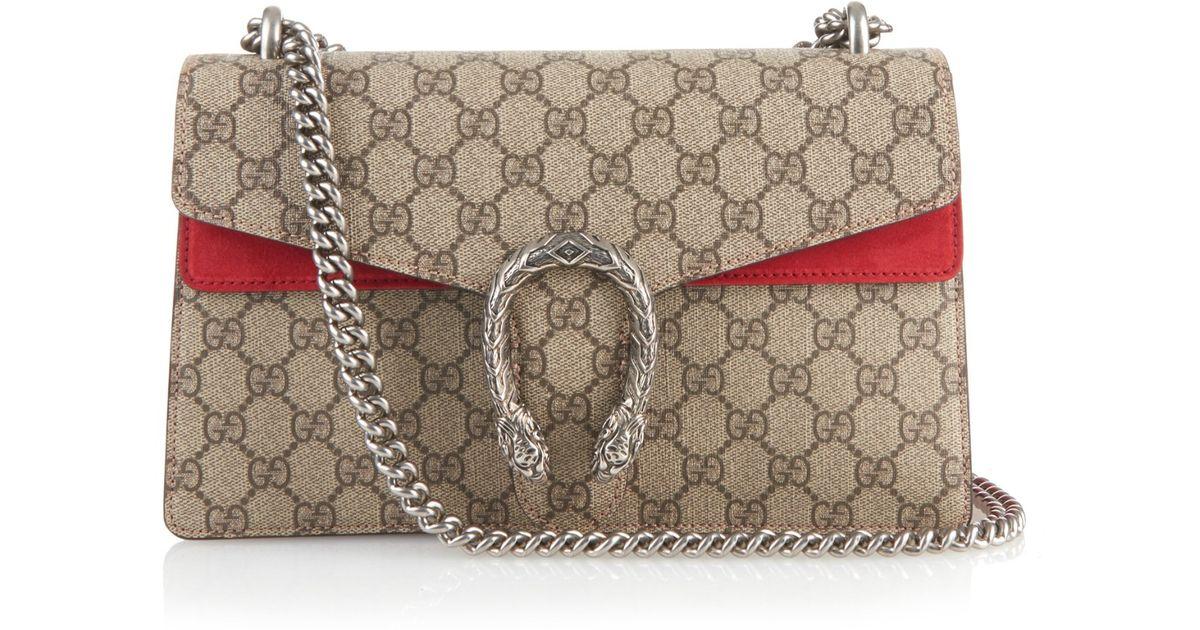Gucci Dionysus GG Supreme Canvas Shoulder Bag in Gray - Lyst a305f719ffd1a