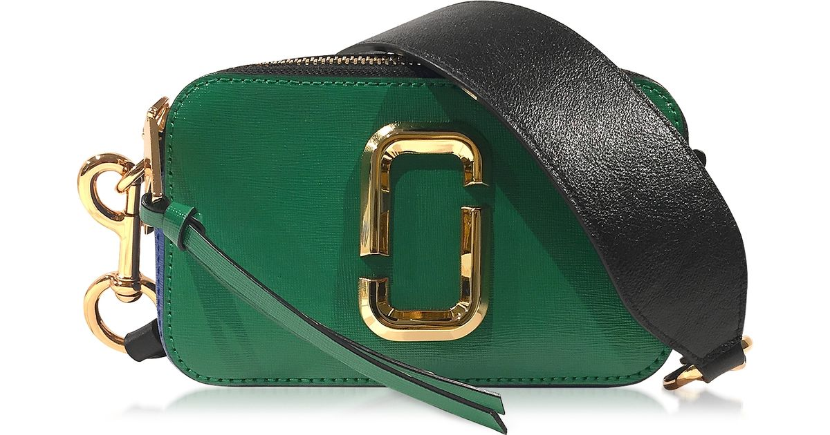 1120187b57a1 Lyst - Marc Jacobs Snapshot Green Grass Saffiano Leather Small Camera Bag  in Green