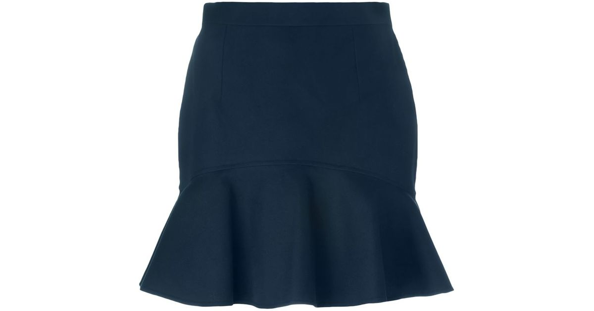 dsquared 178 pleated mini skirt in blue lyst