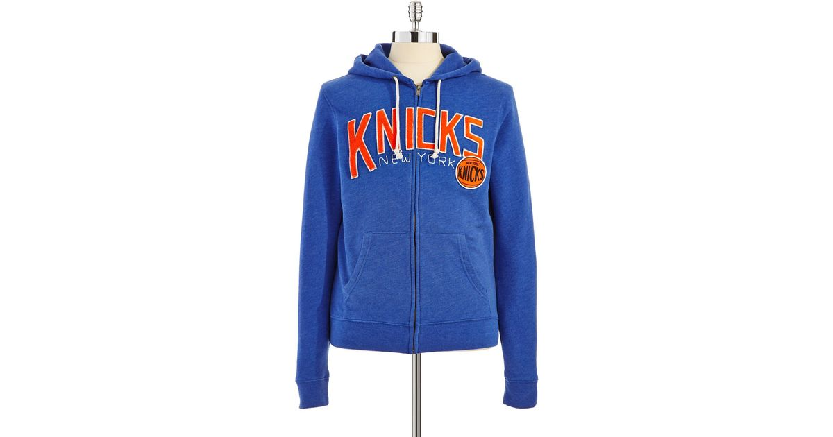 new style f2986 09396 Junk Food - Blue New York Knicks Hoodie for Men - Lyst