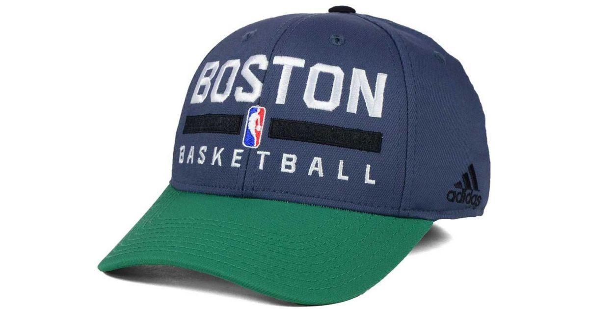 48e1b7ee Lyst - Adidas Boston Celtics Practice Flex Cap in Green for Men