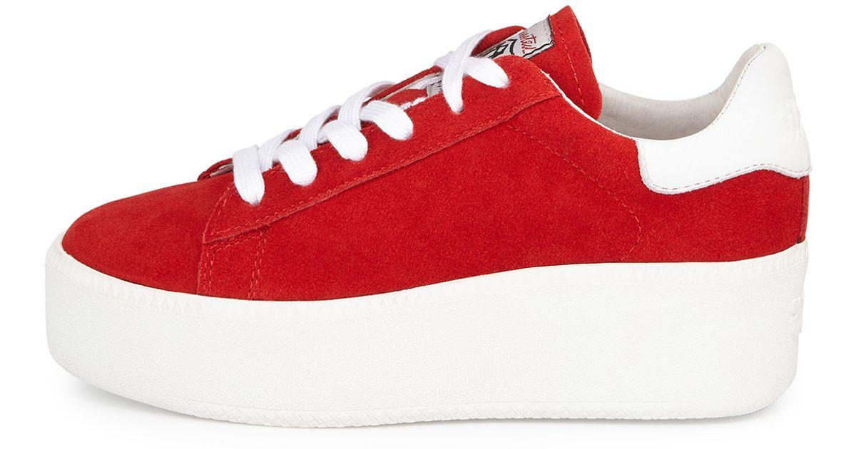 2a5133e0cec Lyst - Ash Cult Suede Platform Sneaker in Red