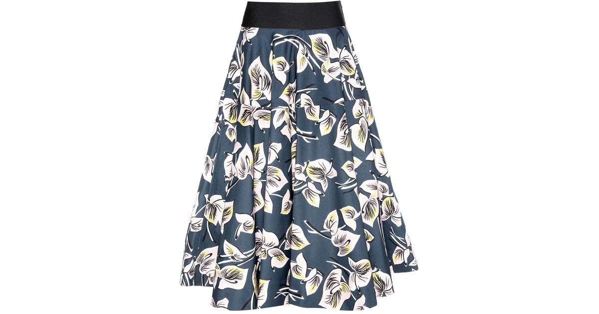 marni printed denim skirt lyst