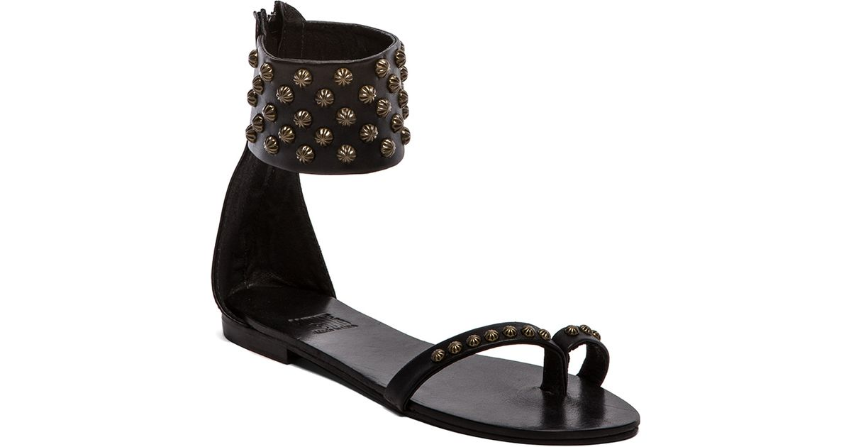 452da5a4eaf4 Anine Bing Ankle Cuff Sandals in Black in Black - Lyst