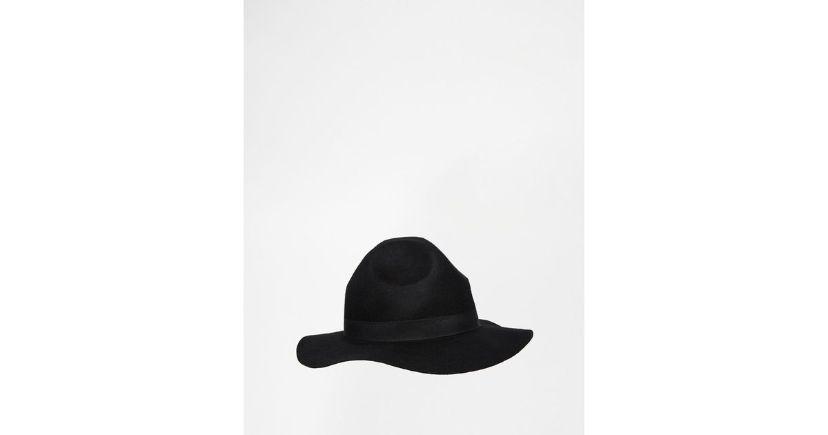 9d1faf4d786c4d ASOS Mountie Hat In Black Felt With Unstructured Brim in Black for Men -  Lyst