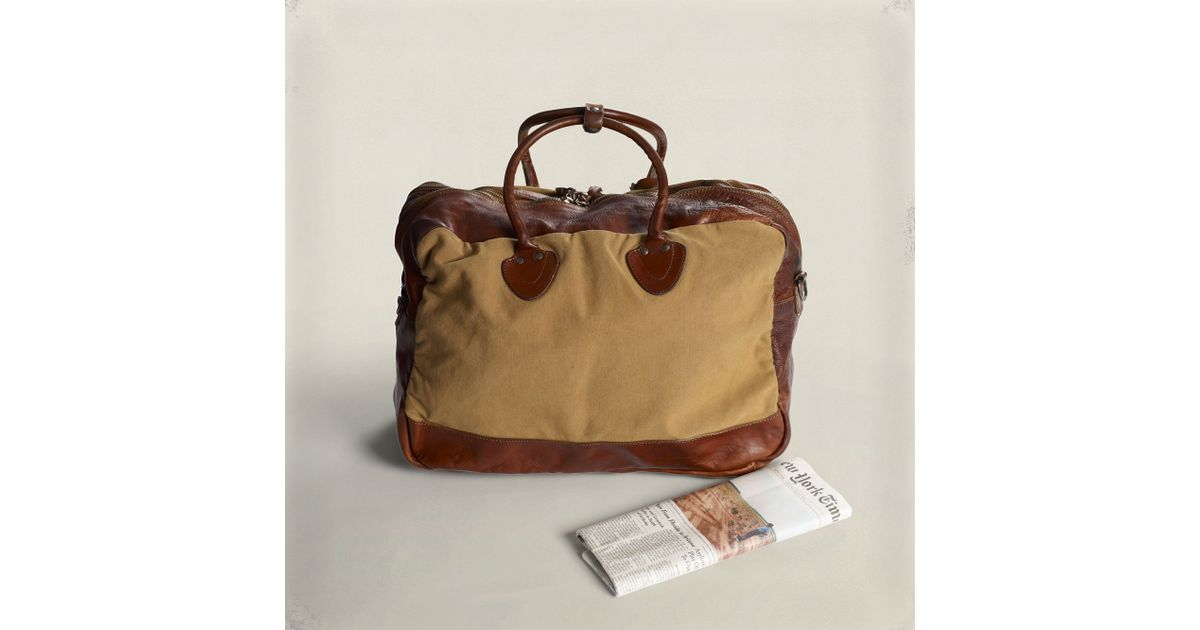 9034bcd32a RRL Canvas Leather Cargo Bag in Brown for Men - Lyst