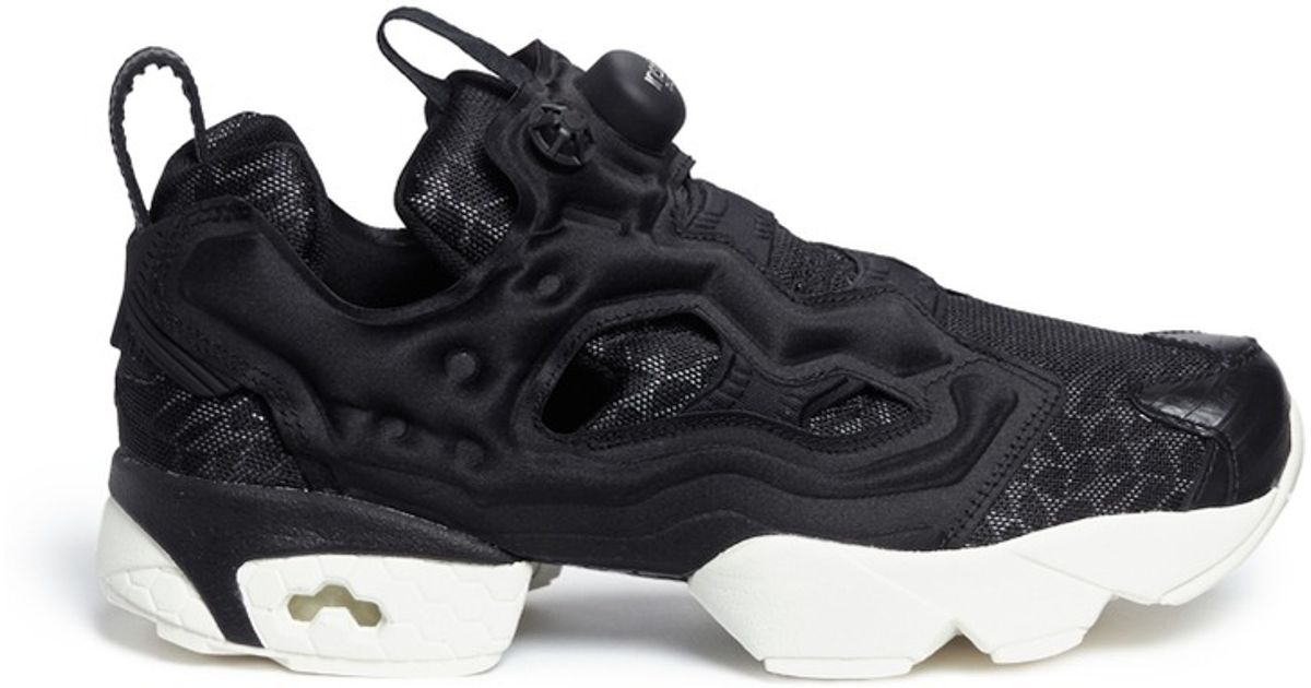 Lyst - Reebok  instapump Fury Celebrate  Slip-on Sneakers in Black 894c4799a