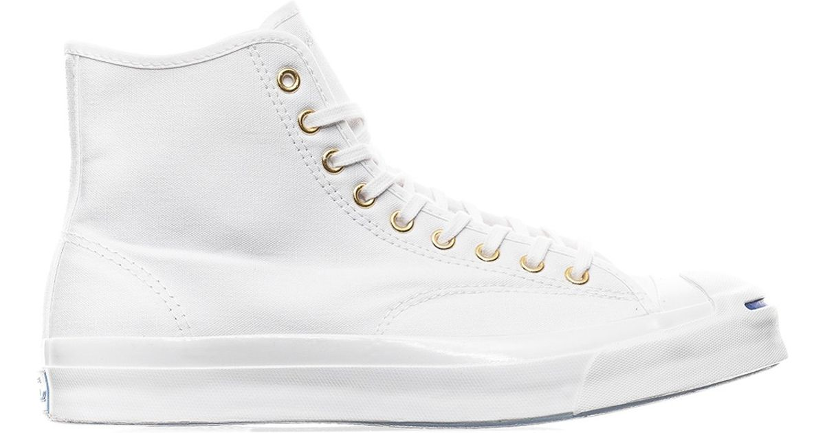 adabf3b92f7b Lyst - Converse Jack Purcell Qs Signature High  duck Canvas Pack  Sneakers in  White for Men