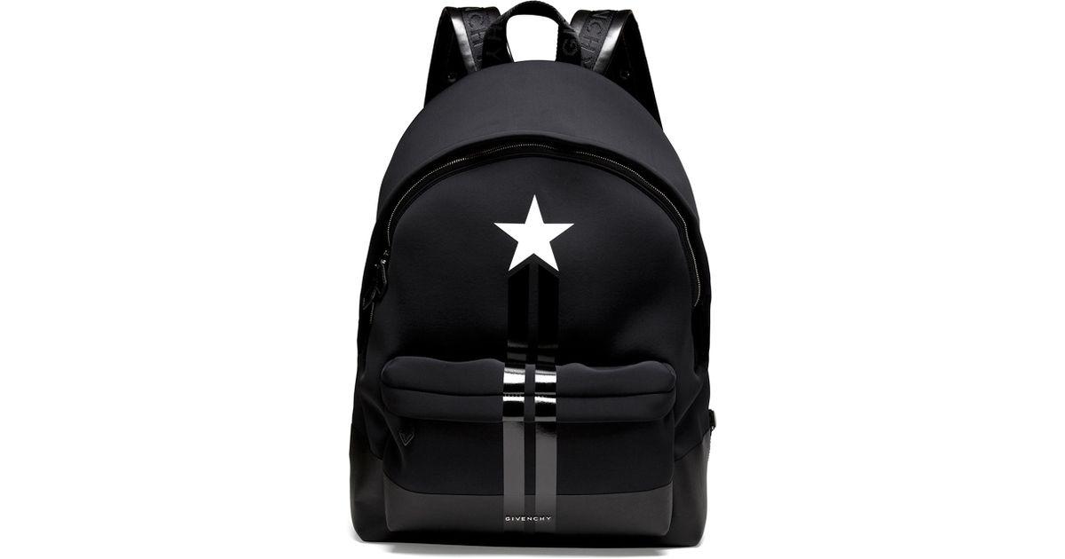 afdbfea997 Givenchy Star/Stripe Neoprene Backpack in Black - Lyst