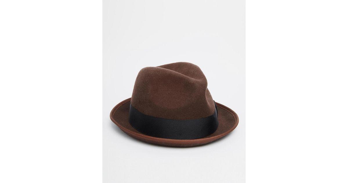 Lyst - Esprit Felt Trilby in Brown for Men 9bb28800fb6