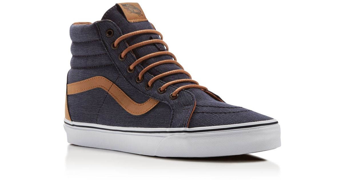 a3b8b5801f Lyst - Vans Sk8-hi Reissue High Top Sneakers in Blue for Men