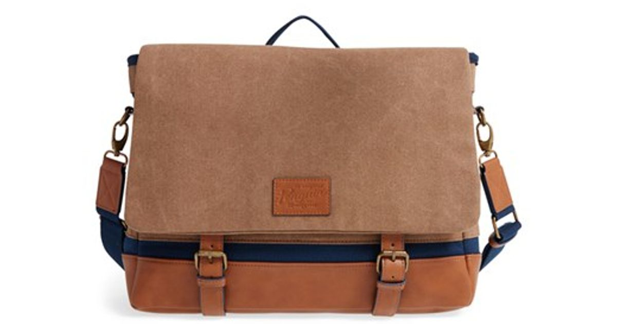 665b97567b Lyst - Original Penguin Canvas   Leather Messenger Bag in Brown for Men