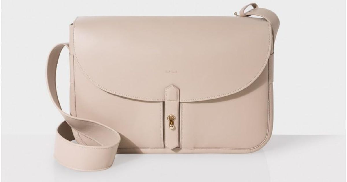 Paul Smith Women s Handcrafted Taupe Leather Shoulder Bag in Natural - Lyst b3f20907d0