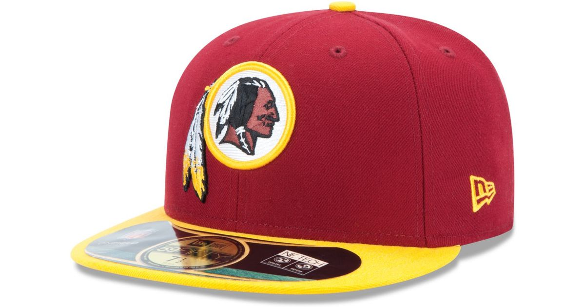 premium selection 6b8db 74c88 Lyst - Ktz Washington Redskins On-field 59fifty Fitted Cap in Red for Men