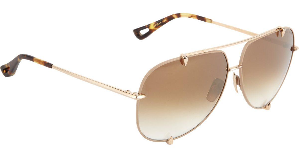 362e239bcad Lyst - Dita Talon Sunglasses in Metallic