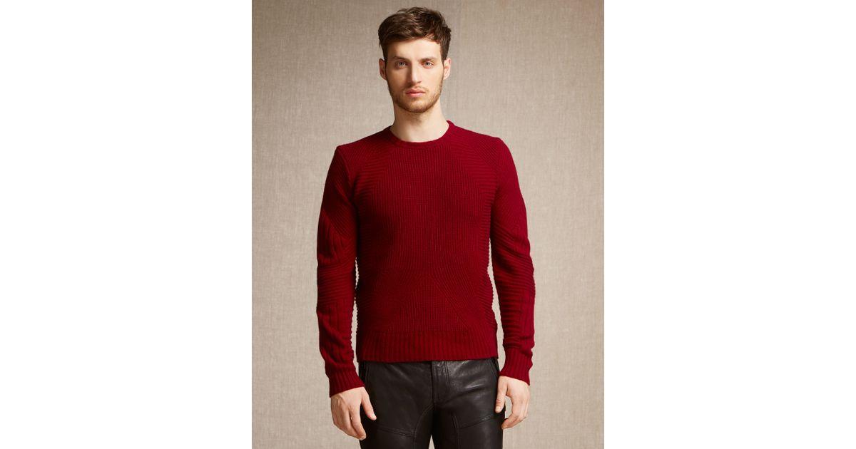 634dd4761f44 Lyst - Belstaff Lincefield Jumper In Dark Red Cashmere Blend in Red for Men