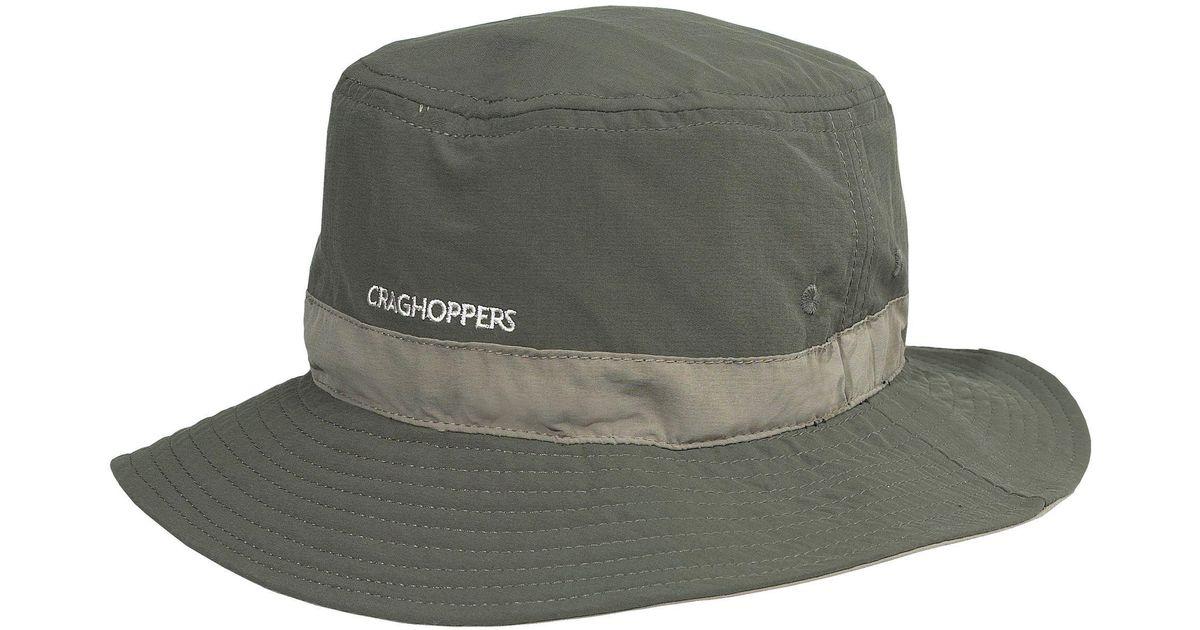 Craghoppers Dark Khaki Nosilife Sun Hat in Green for Men - Lyst b926a659744