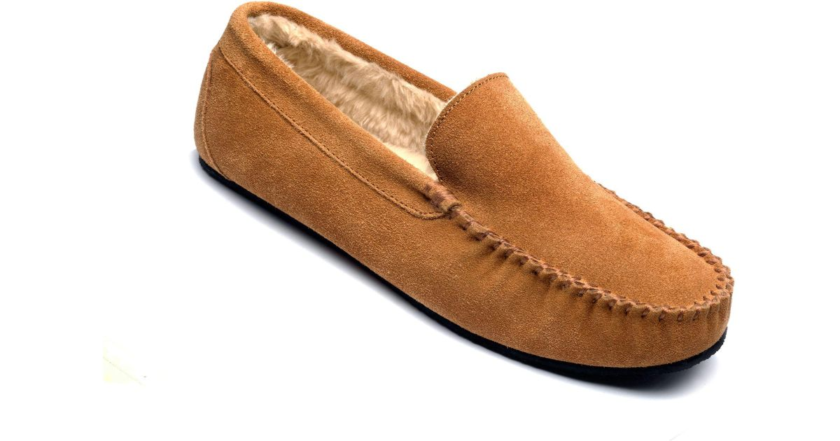 3f535a288627 Freestep Tan Suede  clark  Moccasin Slippers in Brown for Men - Lyst