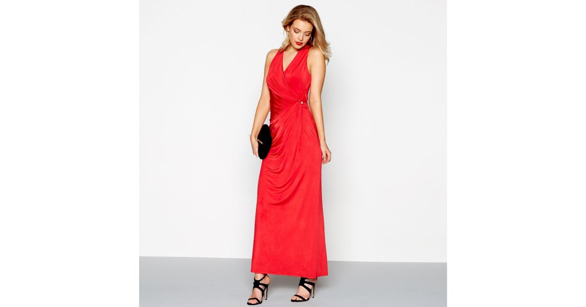 df7439fa8f8 Début Red Jersey 'josephine' V-neck Maxi Dress in Red - Lyst