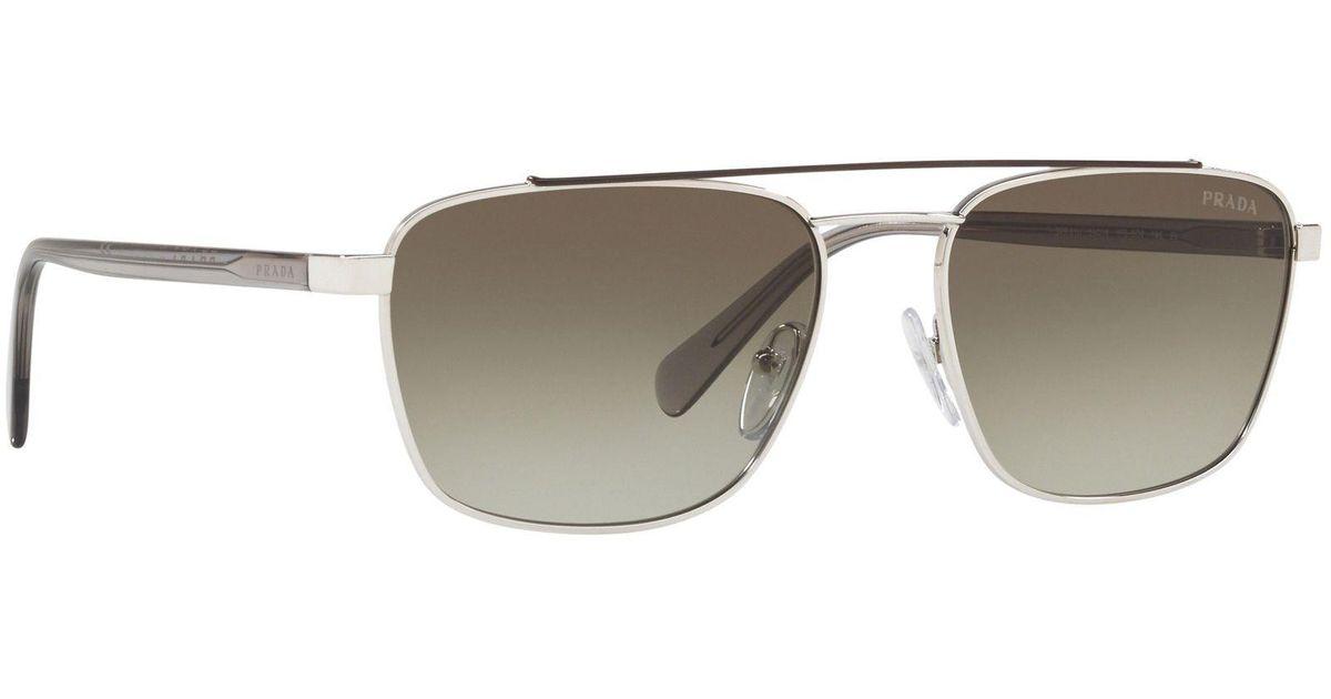 9b42c907277 Prada Gold 0pr 61us Pillow Sunglasses in Metallic for Men - Lyst