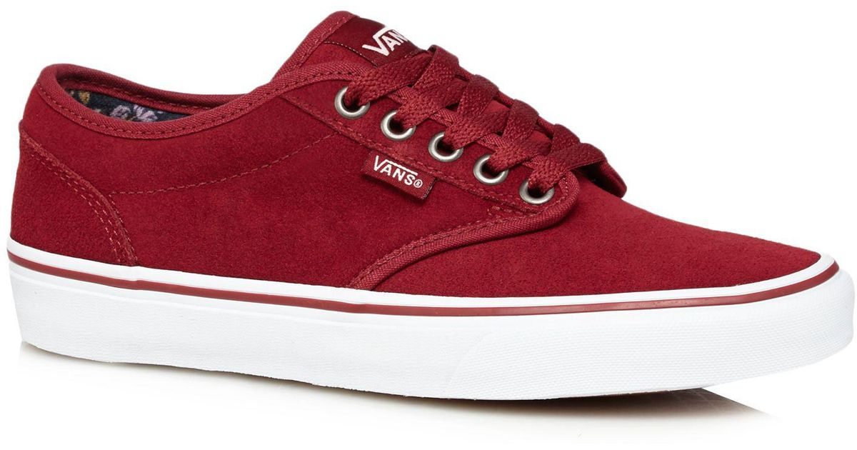 148a214281c7 Vans Bright Red Suede  atwood  Trainers in Red - Lyst
