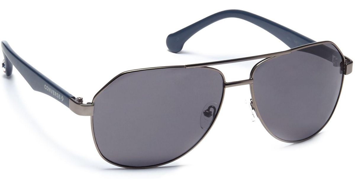 4256223827 Converse Grey Plastic H015 Pilot Sunglasses in Gray - Lyst