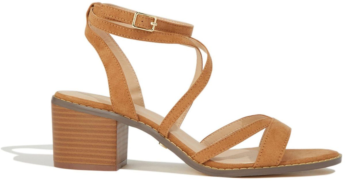 dc3d46384e54 Oasis Tan 'ava' Strappy Heeled Sandals in Brown - Lyst