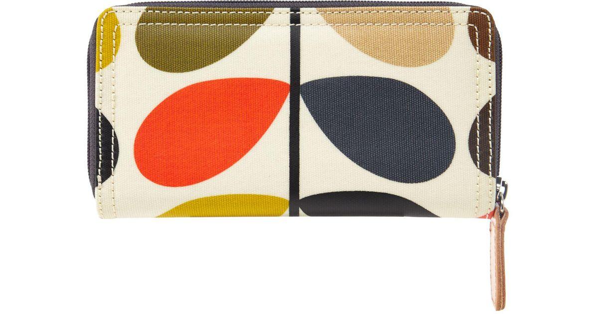 12dd8a01832ba Orla Kiely Multi-coloured Stem Print Wallet - Lyst