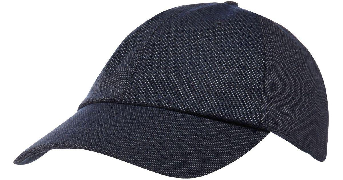 701da3b3b6a J By Jasper Conran Navy Textured Baseball Hat in Blue for Men - Lyst