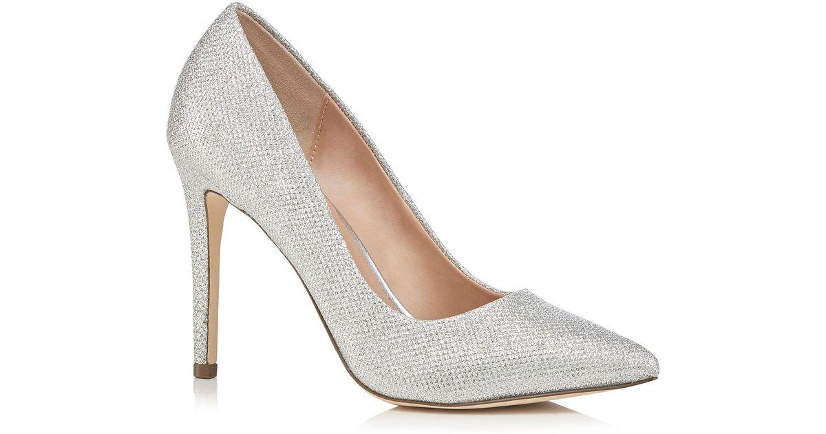 06162185212 Call It Spring Silver Glitter  gwydda  High Stiletto Heel Court Shoes in  Metallic - Lyst